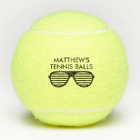 Personalized tennis balls printed with funny logo