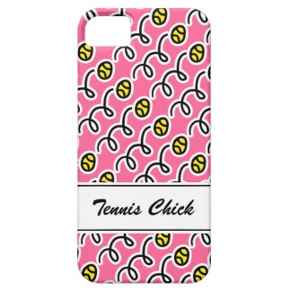 Personalized tennis chick iPhone 5 S case