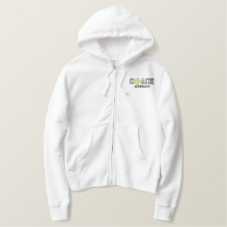 Personalized Tennis Coach Embroidered Hoodie