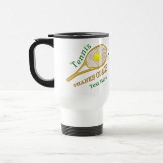 Personalized Tennis Coach Gift Ideas Travel Mug