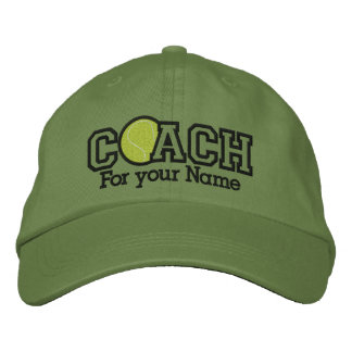 Personalized Tennis Coach with your name Embroidered Baseball Hat