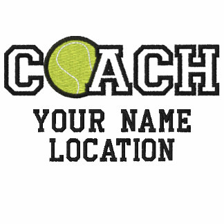Personalized Tennis Coach Your Name Your Game Polo Shirt