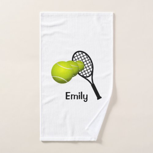 Personalized Tennis Hand Towel