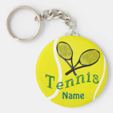 Personalized Tennis Keychain Tennis Team Gifts at Zazzle