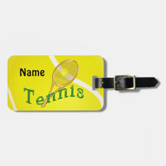 Personalized Tennis Luggage Tags, Tennis Bag Tags