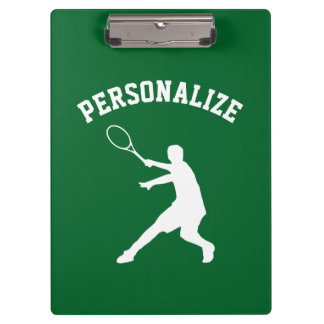 Personalized tennis player coach accessory custom clipboard