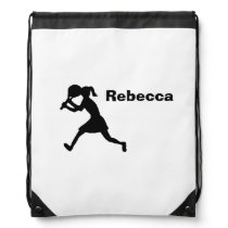 """Personalized """"Tennis Player"""" Drawstring Backpack"""