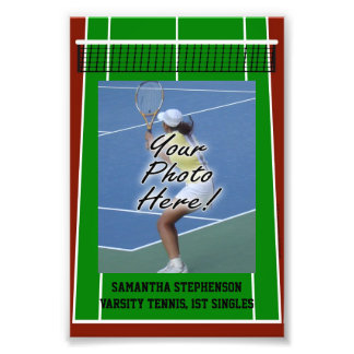 Personalized Tennis Player Photo Border Template