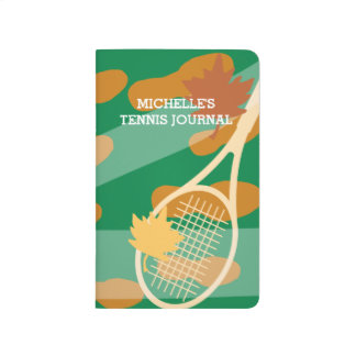 Personalized tennis pocket journal score note book