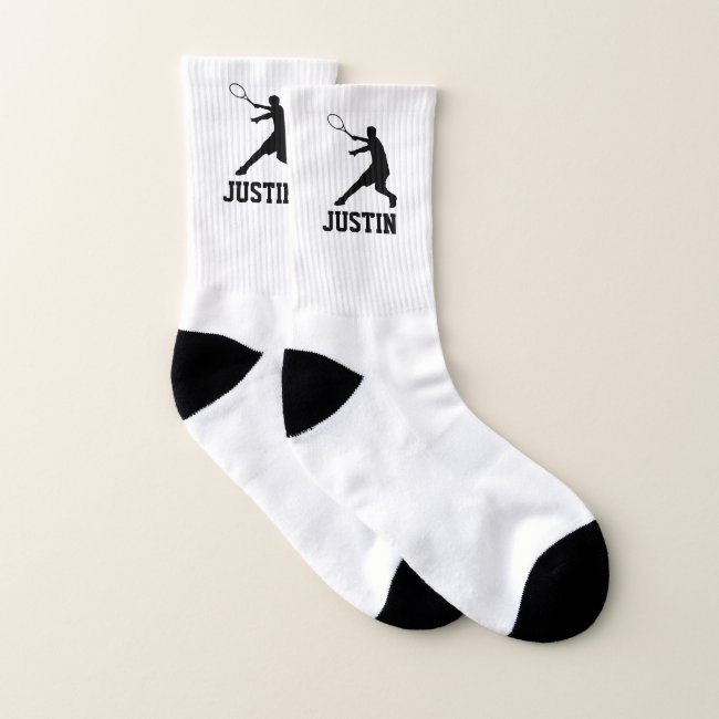 Personalized tennis socks gift for player or coach