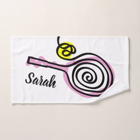 Personalized tennis sports hand towel for players