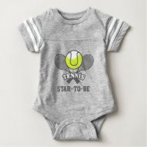 Personalized Tennis Star baby romper