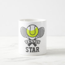 Personalized Tennis Star Coffee Mug