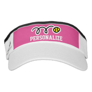Personalized tennis sun visor cap for men or women