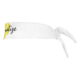 Personalized tennis sweatband with custom text tie headband