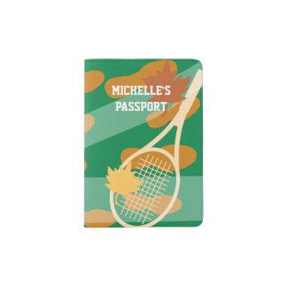 Personalized tennis theme design passport holder