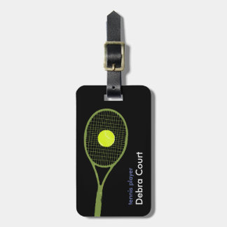 personalized tennis themed luggage tag