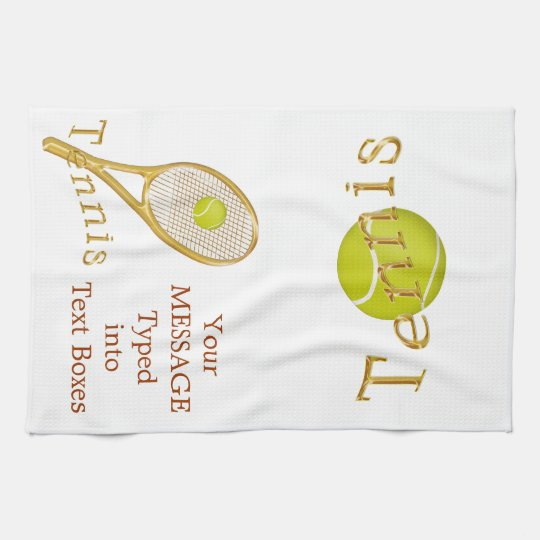 Personalized Tennis Towel, Tennis Gift Ideas Kitchen Towel ...