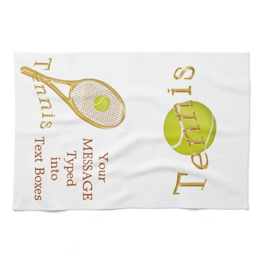 Personalized Tennis Towel, Tennis Gift Ideas Towel