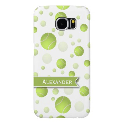 Personalized Tenns Ball Pattern Samsung Galaxy S6 Cases