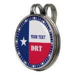 Personalized Texas State Flag on a Golf Hat Clip