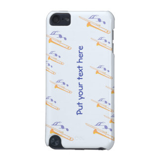 personalized text and Trombones iPod Touch 5G Covers