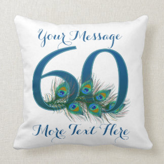 Personalized text classy 60th Birthday 60 Pillows