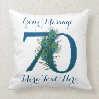 Personalized text classy 70th Birthday 70 Pillows