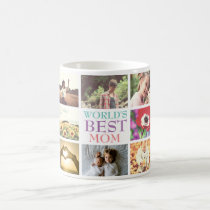 Personalized text custom photo collage coffee mug