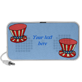 personalized text Patriotic Uncle Sam hats speaker