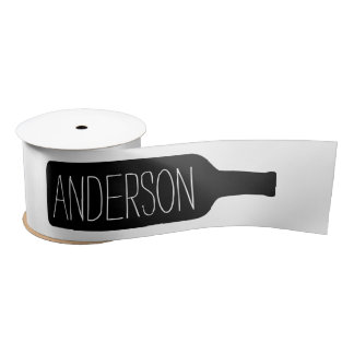 Personalized Text with Bottle Illustration Blank Ribbon