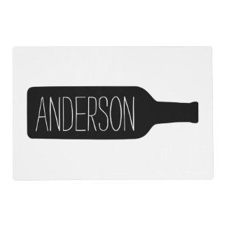 Personalized Text with Bottle Illustration Placemat
