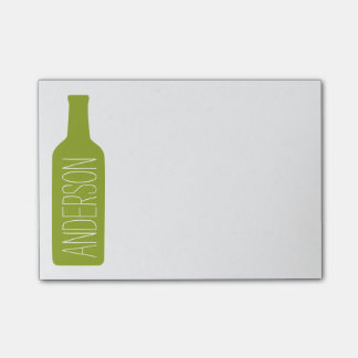 Personalized Text with Bottle Illustration Post-it Notes