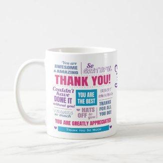 Personalized Thank You Appreciation Message Coffee Mug