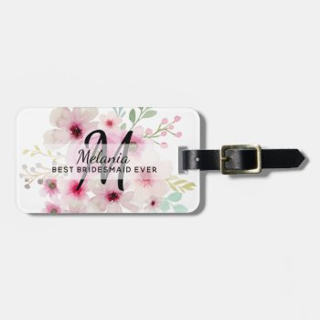 Personalized Thank You Bridal Party Bridesmaid Luggage Tag