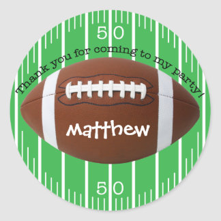 "Personalized ""Thank You"" Football Sticker"