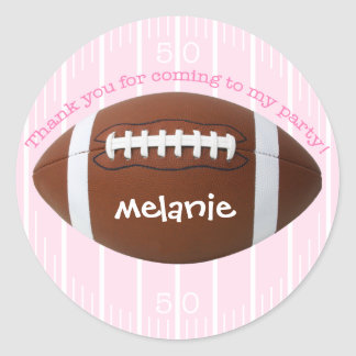 """Personalized """"Thank You"""" Football Sticker"""