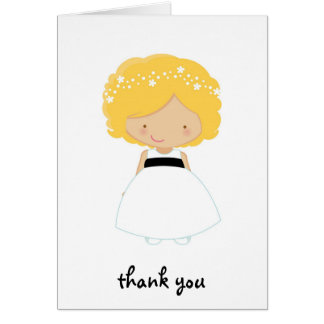 Personalized Thank You For Being Our Flower Girl Greeting Card