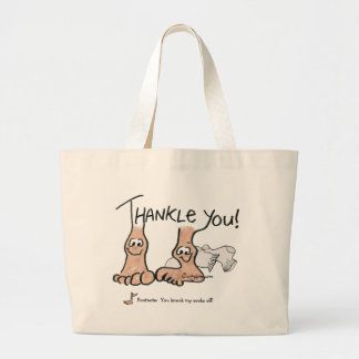 Personalized Thank You Gift Large Tote Bag