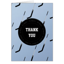 Personalized Thank You Ice Hockey theme Card