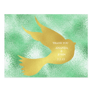 Personalized Thank You Minimalism Wedding Postcard