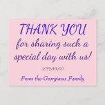 """[ Thumbnail: Personalized """"Thank You"""" Postcard ]"""