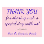 "[ Thumbnail: Personalized ""Thank You"" Postcard ]"