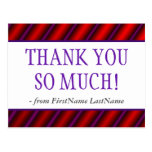 """[ Thumbnail: Personalized """"Thank You So Much!"""" Postcard ]"""