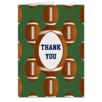 Personalized Thank You Sports Party football theme Card