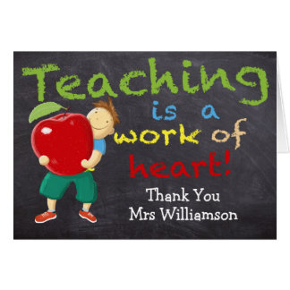 Personalized, Thank You Teacher Card