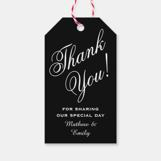 Personalised Thank You Wedding Gifts : Personalized Thank You Wedding Favor Pack Of Gift Tags Zazzle