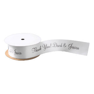 Personalized thank you wedding favor ribbon