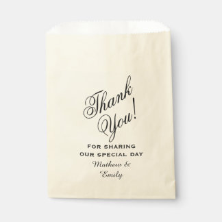Personalized Thank You Wedding Favor Bags