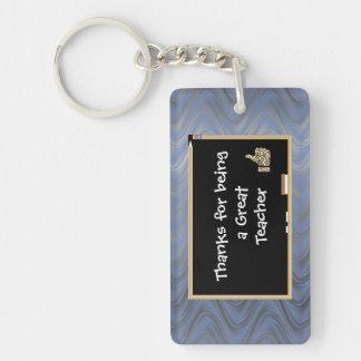 Personalized Thanks to Teacher Keychain